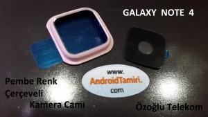 Galaxy Note 4 Pembe Kamera Çervesi