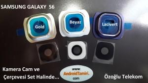 Galaxy S6 Kamera cam ve Çerçevesi