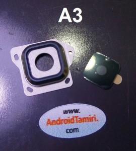 Samsung A3 Kamera Cam ve Çerçevesi