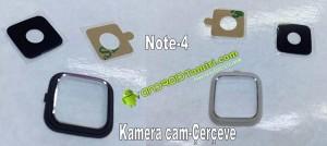 note 4 kamera camı ve çerçevesi